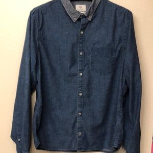 AG Adriano Goldschmied Shirt XL Standard Fit Navy